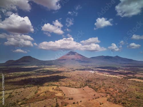 Cristobal volcano aerial dr...