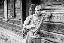 Young Soldier S Face - Vintage...
