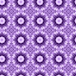 canvas print picture - Purple flower mosaic detailed seamless textured pattern background