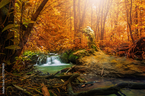Printed kitchen splashbacks Forest river Waterfall in autumn forest at Sa Nang Manora National Park ,Phang-nga Thailand