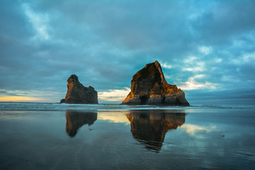 Famous stones at Wharariki Beach (New Zealand)