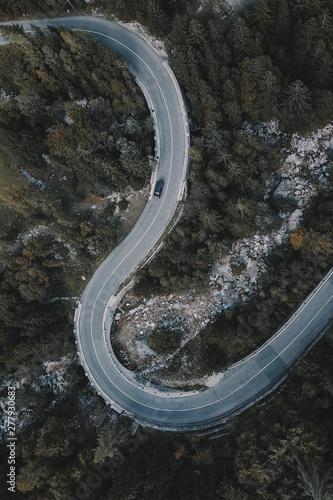 Garden Poster Air photo Winding Roads