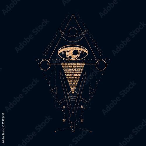 Fotomural Mystical geometry symbol