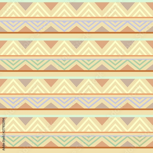Poster de jardin Draw Abstract African Seamless Textile Pattern Design 4