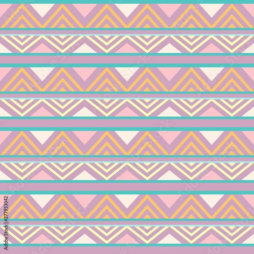 Foto op Aluminium Draw Abstract African Seamless Textile Pattern Design 1