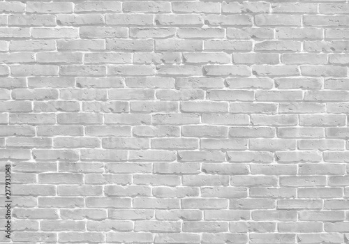 White old brick wall texture background banner with clean