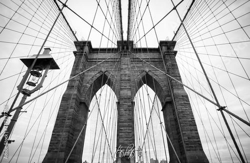 Fototapety, obrazy: brooklyn bridge and manhattan