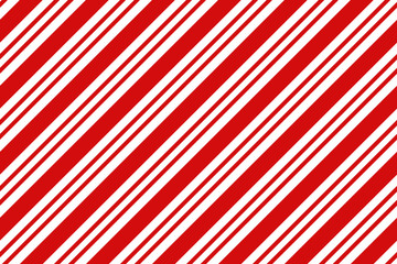 Christmas background. Red and white diagonal stripes pattern.