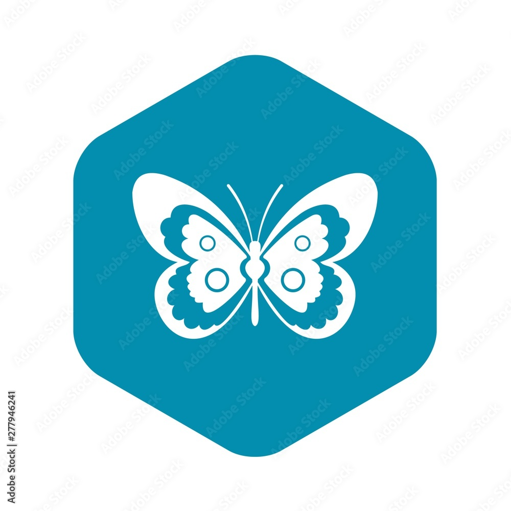 Fototapety, obrazy: Butterfly icon. Simple illustration of butterfly vector icon for web