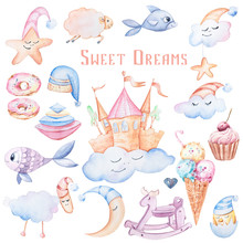 Watercolor Fairy Tale Clipart:...