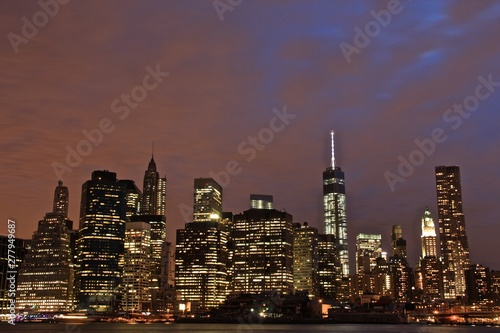 Fototapety, obrazy: Lower Manhattan of New York City from Brooklyn Heights.