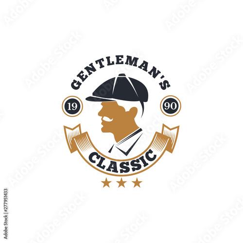 Foto Vintage gentlemen club design elements, logo, emblem, stamp