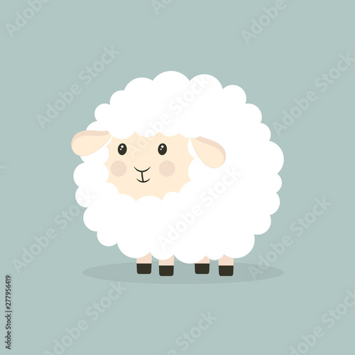 Carta da parati nice cartoon sheep isolated