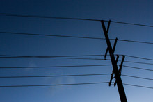 A Silhouetted Electricity Powe...