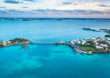 A Bridge Between Two Tropical Islands In Bermuda