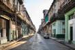 Empty street at the old town, Havana, Cuba