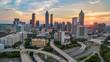 canvas print picture Sunset over Downtown Atlanta, Georgia, USA