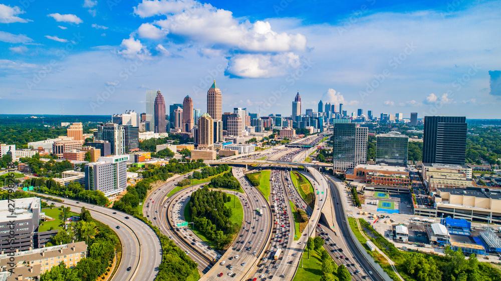 Fototapety, obrazy: Atlanta, Georgia, USA Downtown Skyline Aerial