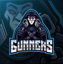 Gunner Sport Mascot Logo Design
