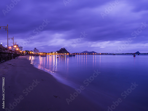 landscape of  sea in twilig...