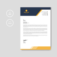 Modern Orange Letterhead Layou...