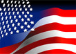4th July – Independence day of United States of America. American flag. Vector illustration