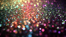 Colorful Abstract Bokeh Glitter