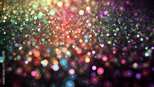 Photo Colorful abstract bokeh glitter