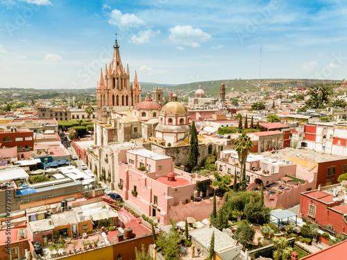 Fototapeta premium Widok z lotu ptaka San Miguel de Allende