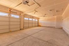 Interior Of An Empty Garage Wi...