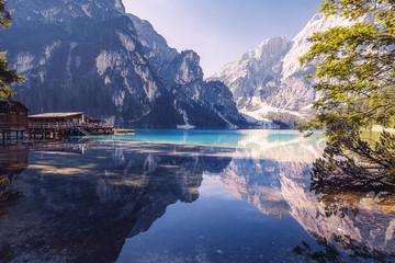 Summer morning at Lago di Braies, Italy