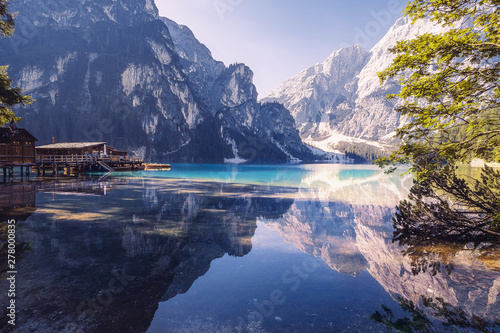Summer morning at Lago di Braies, Italy