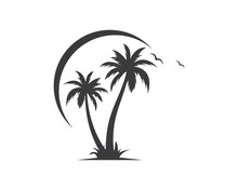 Palm Tree Icon Of Summer And T...