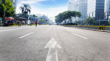 Sudirman Main Road In Car Free Day Event