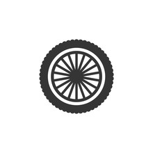Car Wheels Icon Template Color Editable. Wheels Symbol Vector Sign Isolated On White Background. Simple Logo Vector Illustration For Graphic And Web Design.