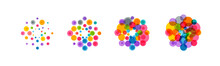 Abstract Virus Icon Set. Color...