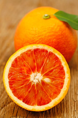 Panel Szklany Podświetlane Owoce Sanguinelli oranges.