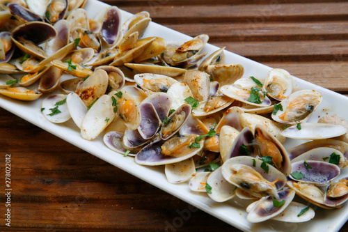 Fotografie, Tablou Shellfish seafood clams grilled