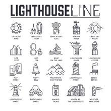 Set Of Lighthouses, Lifeguard ...