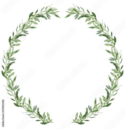 Photo sur Aluminium Oliviers Couronne de feuilles d'olivier