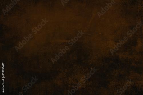 Fototapeta Dark brown grungy background or texture obraz na płótnie