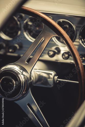 Wooden steering wheel of an...