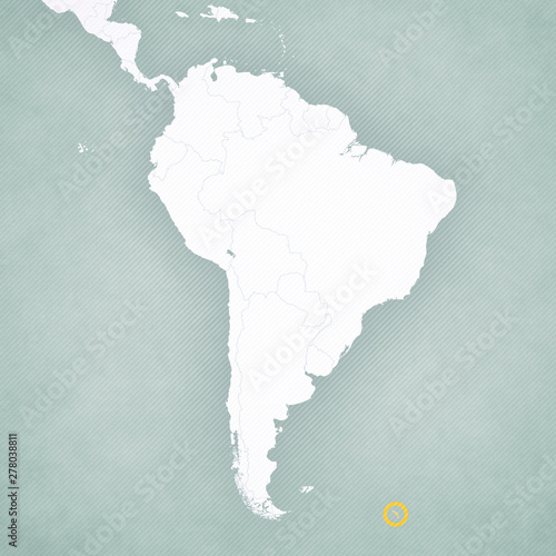 Map of South America - South Georgia – kaufen Sie diese ...