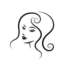 Woman Face Logo Design