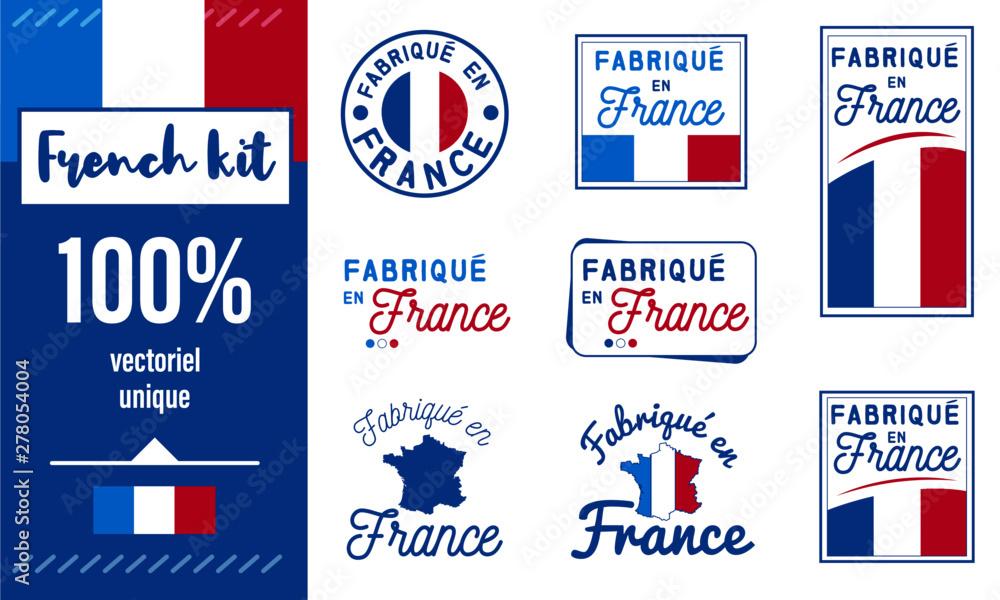 Fototapeta Logo / Label / sticker / Fabriqué en France