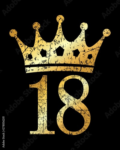 Crown Number 18 (Ancient Gold) Canvas Print