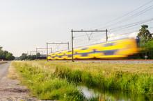 Dutch Railway Train With Speed...