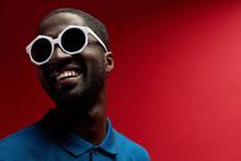 Fashion. Smiling Black Man In ...