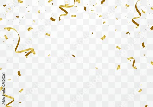 Fototapeta Background celebrated with golden confetti Scene design for various festive parties obraz na płótnie