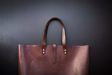 Elegant Luxury Leather Brown B...